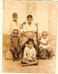 Malay (sitting) with elder brother Samir Roychoudhury in Patna (1940's)