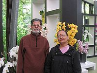 Malay with his wife Shalila in Den Haag , Holland. (2009)